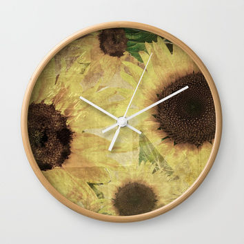 Wallflowers Wall Clock by Theresa Campbell D'August Art