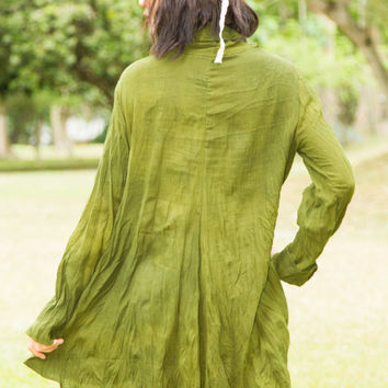 Long Sleeve Tunic Dress - Boho Dress,Tunic Dress, Plus Size Clothing, Bohemian Clothing, Gypsy Dress, Hippie Clothing, Festival Clothing