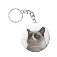 Grumpy Cat - The Grumpy Stare Keychain from Zazzle.com