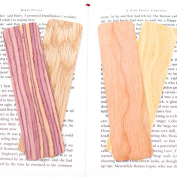 Bookmark Blanks, Wood Bookmark, Blank Bookmarks, 5-Set, Bookmarks, Wooden Bookmark, Wood Book Mark, Unique Bookmark, Wood Blanks