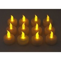 Amazon.com: 12 Battery Operated AMBER LED Tealight Candles Flameless Heatless No Heat Candle Flickering Wickless Led Long Lasing Life Faux Wedding Holiday Christmas Thanksgiving Party Light Dozen: Home Improvement