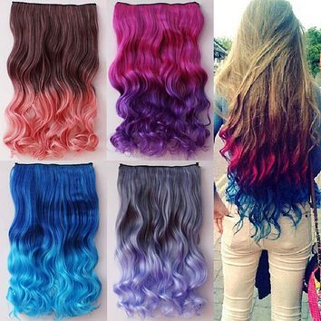 Colorful Hair Extension Layer Clip