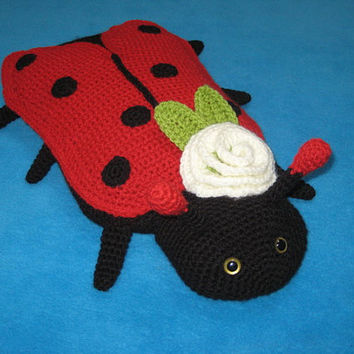 Crochet Pattern Ladybug Hot Water Bottle Cover Cosy