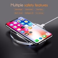Wireless Charger Mini Charging Pad Fast Charger Dock for Apple iPhone X 10 8 / 8