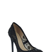 BCBG Bettie Round-Toe Lace Dress Pump