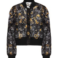 Evans lace cropped jacket