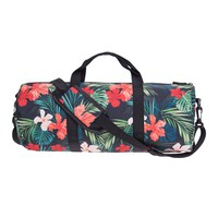 Floral Print Gym Duffel Bag