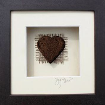 'Heart' Picture - Made in Ireland from 10,000 year old Irish Bog/Peat