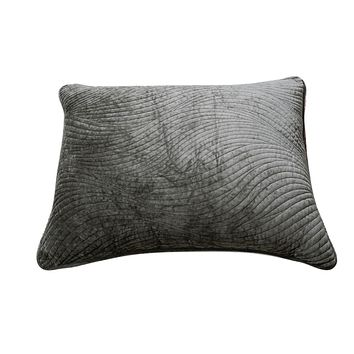 Tache Dark Brown Velvety Dreams Luxury Velveteen Plush Waves Pillow Sham (JHW-852BR-Sham)