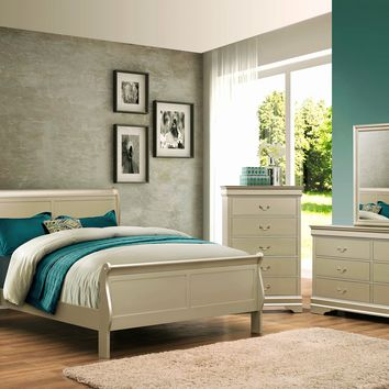 Champagne Full Sleigh Bedroom Set