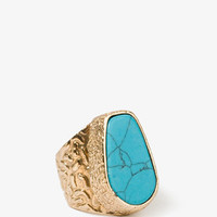 Textured Faux Stone Ring