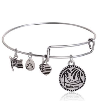Alex and Ani style ancient silver plating Charm Bracelet , a perfect gift !