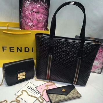 PEAPYN6 Year-End Promotion 3 Pcs Of Bags Combination (Gucci Bag ,Furla Mid Bag ,Gucci Wallet)