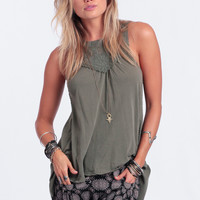 Fanciful High-Low Blouse