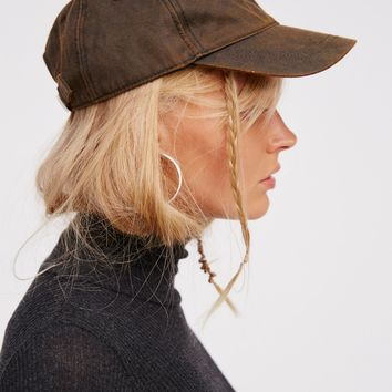 Free People Delancy Distressed Baseball Hat