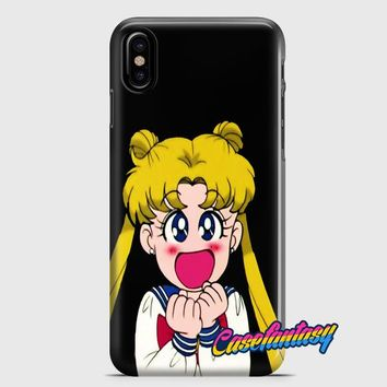 Sailor Moon Sticker iPhone X Case