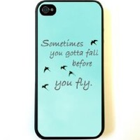 Zeimax® UV Case for iPhone 5 5S - Sometimes You Gotta Fall Before You Fly