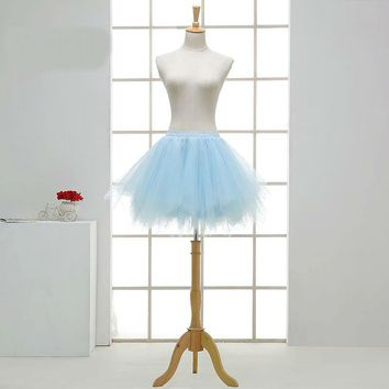Light blue Short Ballet Petticoat Wedding Bridal Accessories Petticoats for Party Tulle