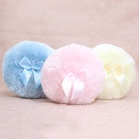 Professional Butterfly Baby Cosmetic Villus Powder Puff Sponge for Talcum Powder  Makeup Cosmetic Plush sponges