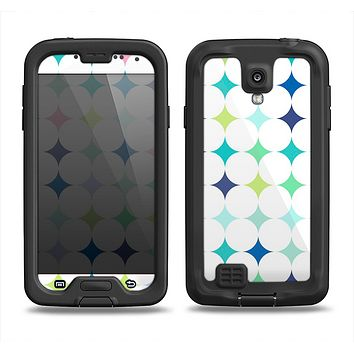 The Vibrant Fun Colored Pattern Hoops Inverted Polka Dot Samsung Galaxy S4 LifeProof Fre Case Skin Set