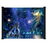 "Final Fantasy X Game Fabric Wall Scroll Poster (25""x16"") Inches"