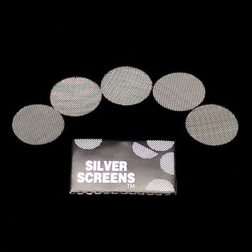 100pcs Silver Pipe Screens For Metal Glass Wooden Acrylic Water Tobacco Pipe Filters Shisha Hookah Sheesha Chicha Narguile