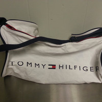 Vintage 90's Tommy Hilfiger Cotton Duffle Gym Bag Retro Style Great Vintage Condition Small Logo