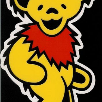 Grateful Dead - Yellow Dancing Bear Sticker