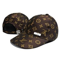 ONETOW LV Louis Vuitton Women Men Fashion Sunhat Embroidery Baseball Cap Hat