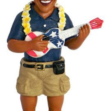 Barack Obama Playing the Ukulele Dashboard Doll 4""