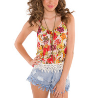 Sun Shining Day Floral Top