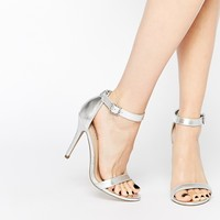 Call It Spring Jechta Silver Heeled Barely There Sandals