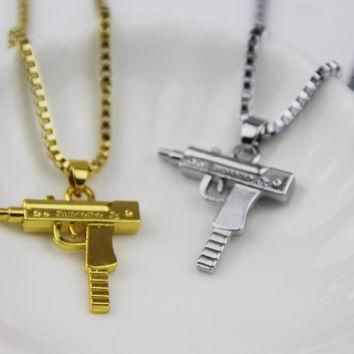 Fashion Jewelry Hip Hop Dance Charm Gun SUPREME Necklace Star Jewelry Men Franco Chai