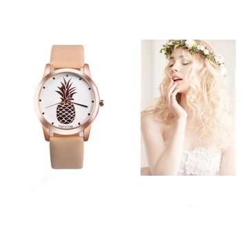 Gorgeous Pineapple Leather Watch