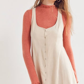 Kimchi Blue Button-Down Linen Mini Dress | Urban Outfitters