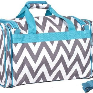 Ever Moda Purple Chevron Duffle Bag 19-inch
