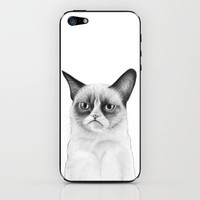 "Grumpy Cat Drawing ""Tard"" iPhone & iPod Skin by Olechka"