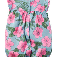 Printed Snap-Up Cotton Romper