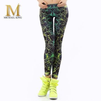 michael king sporting Legginsy Slim leggings jeggings stretch workout leggings women print ray Fashion legins sporting fitness