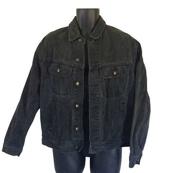 Black Denim Jacket Black Jean Jacket Men Denim Jacket Lee Denim Jacket Men Jean Jacket 80s Denim Jacket 90s Jean Jacket 90s Denim Jacket