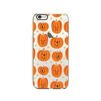 Halloween Pumpkin Pattern Transparent Silicone Plastic Phone Case for iphone 6PLUS _ LOKIshop (iphone 6 plus)