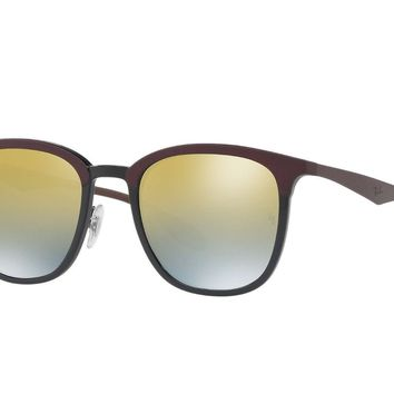 Ray Ban Unisex Squared Sunglasses RB4278 6285A7 Black/Brown Frame Green Lens