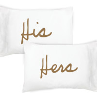 His & Hers Pillowcase Set
