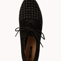 Standout Faux Suede Oxfords