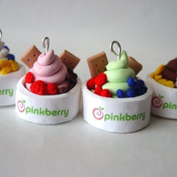 Pinkberry Frozen Yogurt Charm Necklace or by SimplyEncharming