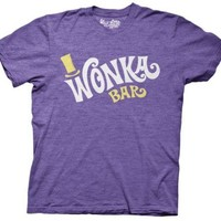 Wonka and the Chocolate Factory Wonka Bar Logo Movie Adult T Shirt