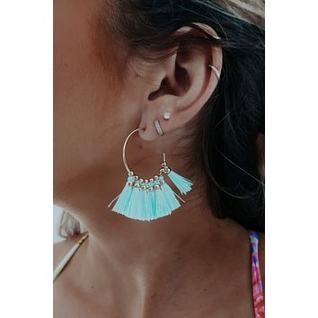 Pretty Girl Earrings: Turquoise/Gold
