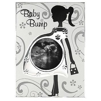 Malden Baby Bump Sonogram Metal Picture Frame