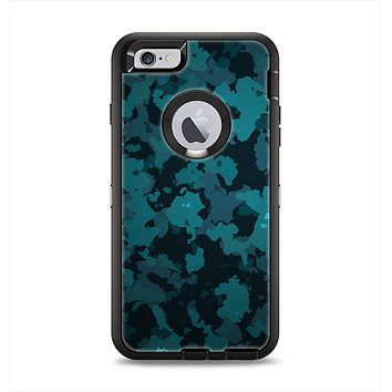 The Teal Vector Camo Apple iPhone 6 Plus Otterbox Defender Case Skin Set