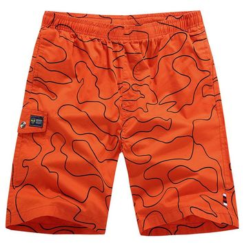 Summer Cotton Elastic Waistband Beach shorts Board Shorts